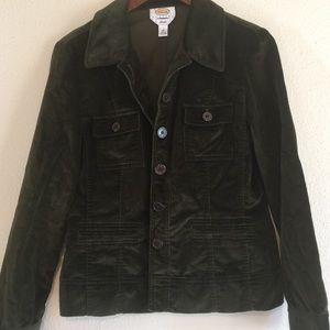 Talbots size 10 Beautiful velvety button up coat